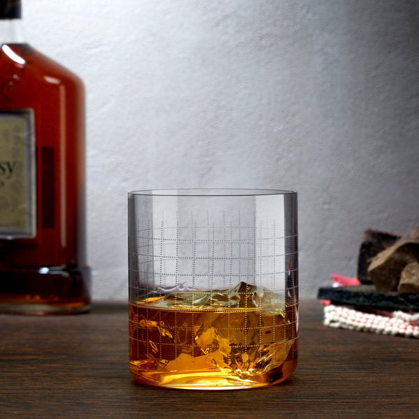 Finesse Grid@Set of 4 Whisky SOF Glasses