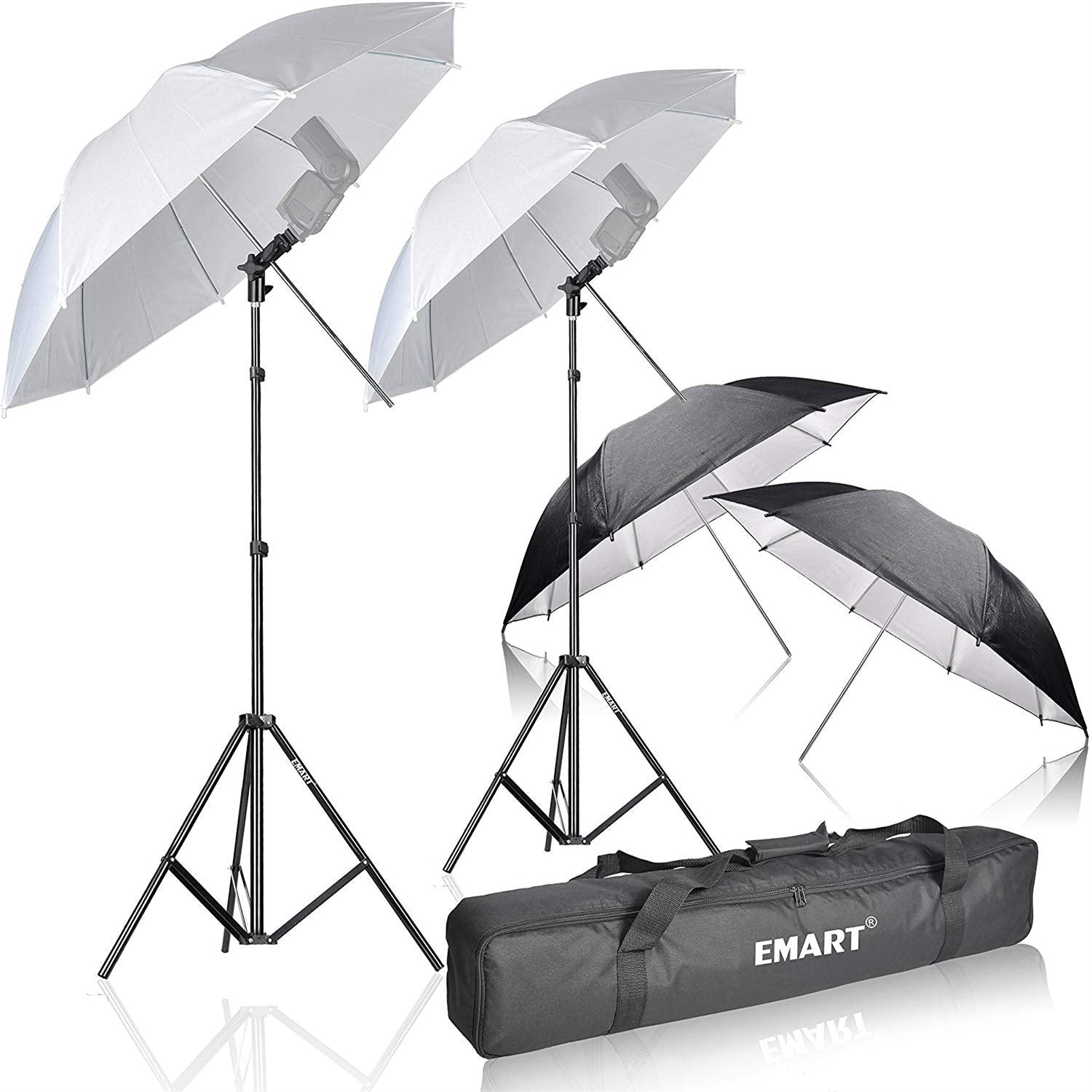 Emart Photo Studio Double Off Camera Speedlight Flash Umbrella Kit