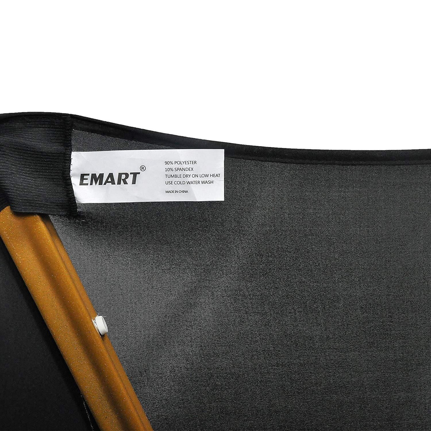 EMART Black Color Polyester Spandex Banquet Wedding Party Chair Covers - EMART8