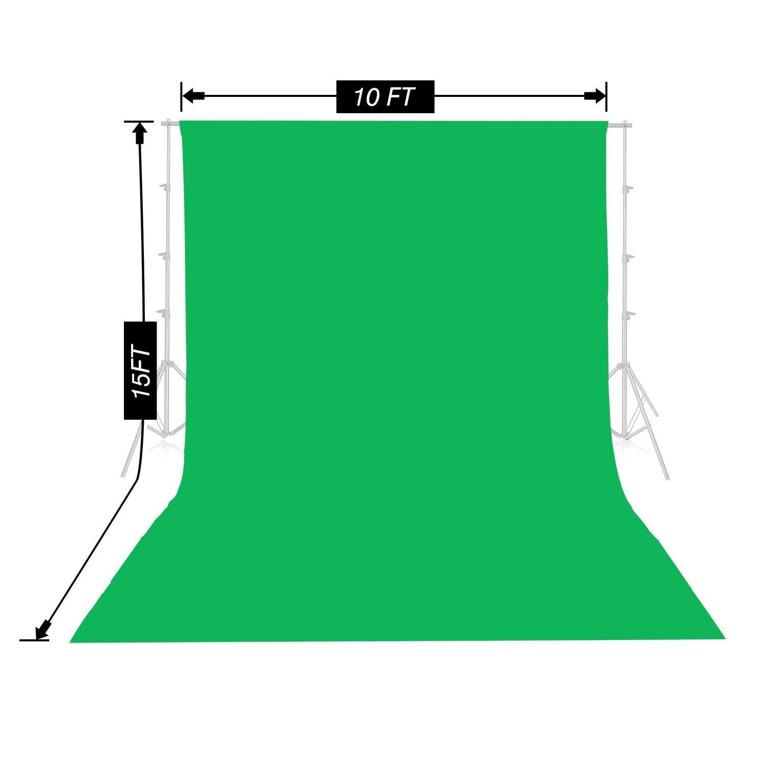 Emart Green Backdrop Background Screen 10 x 15ft
