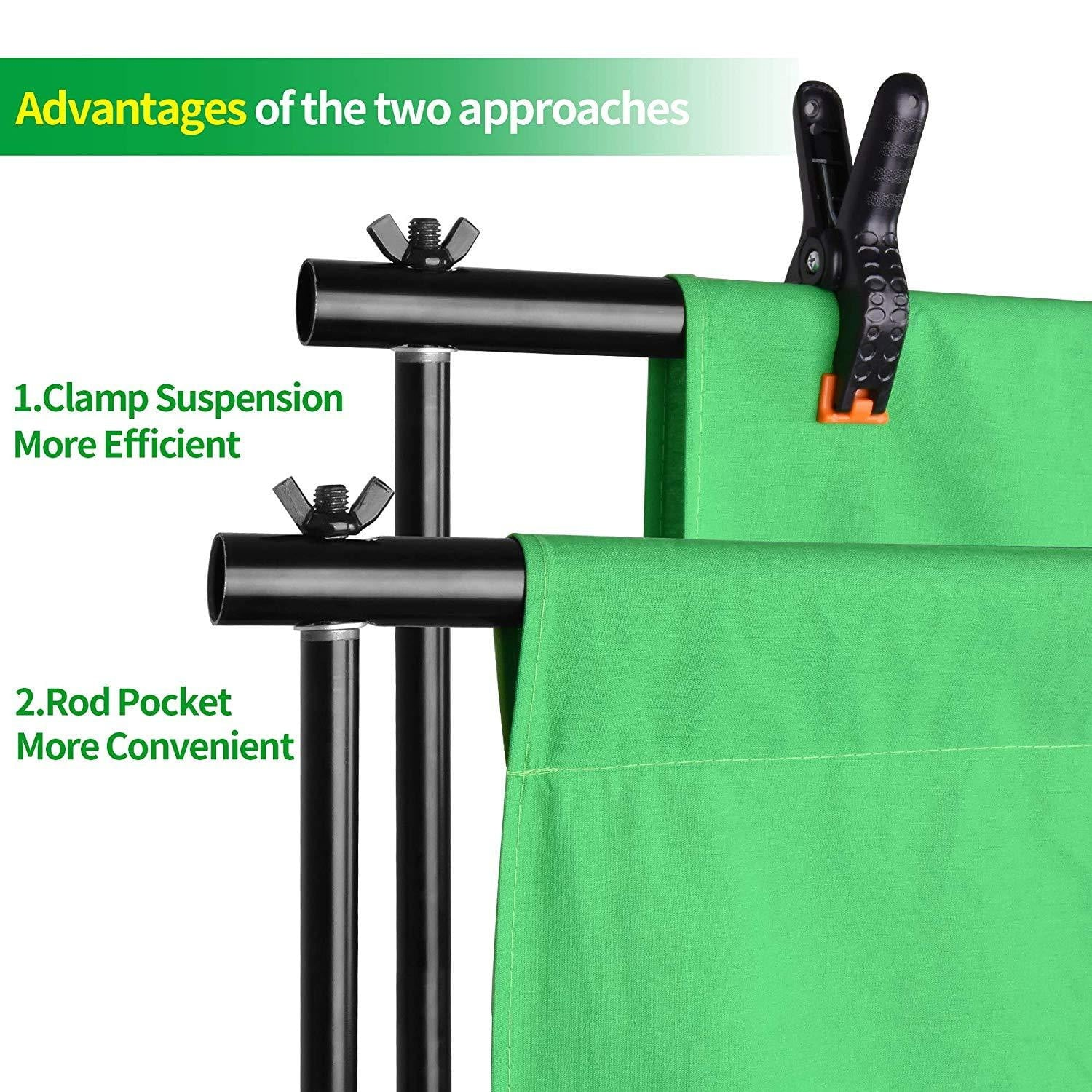 Emart Photo Video Studio 8.5 x 10ft Green Screen Backdrop Stand Kit - EMART8