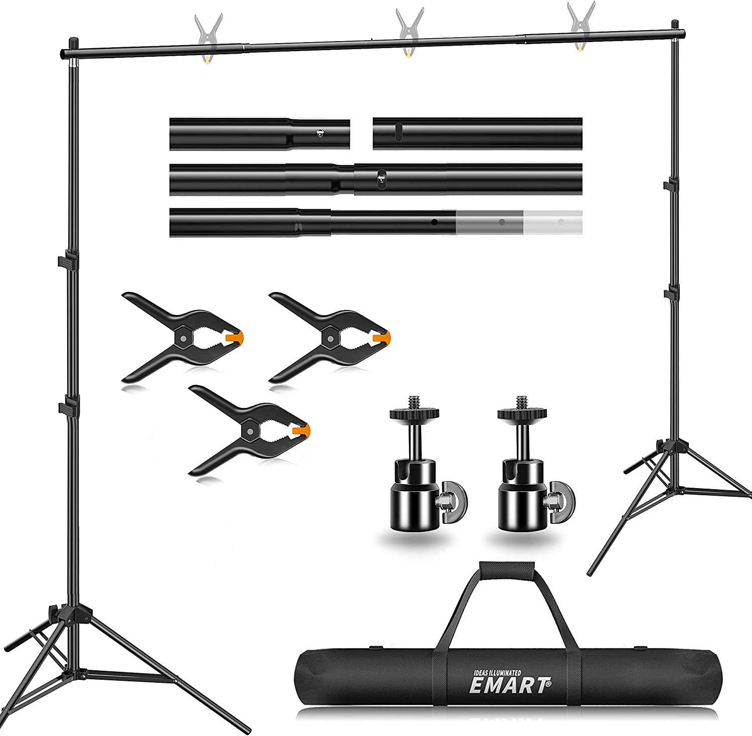 Backdrop Stand, Emart 7x10ft Photo Video Studio - EMART8