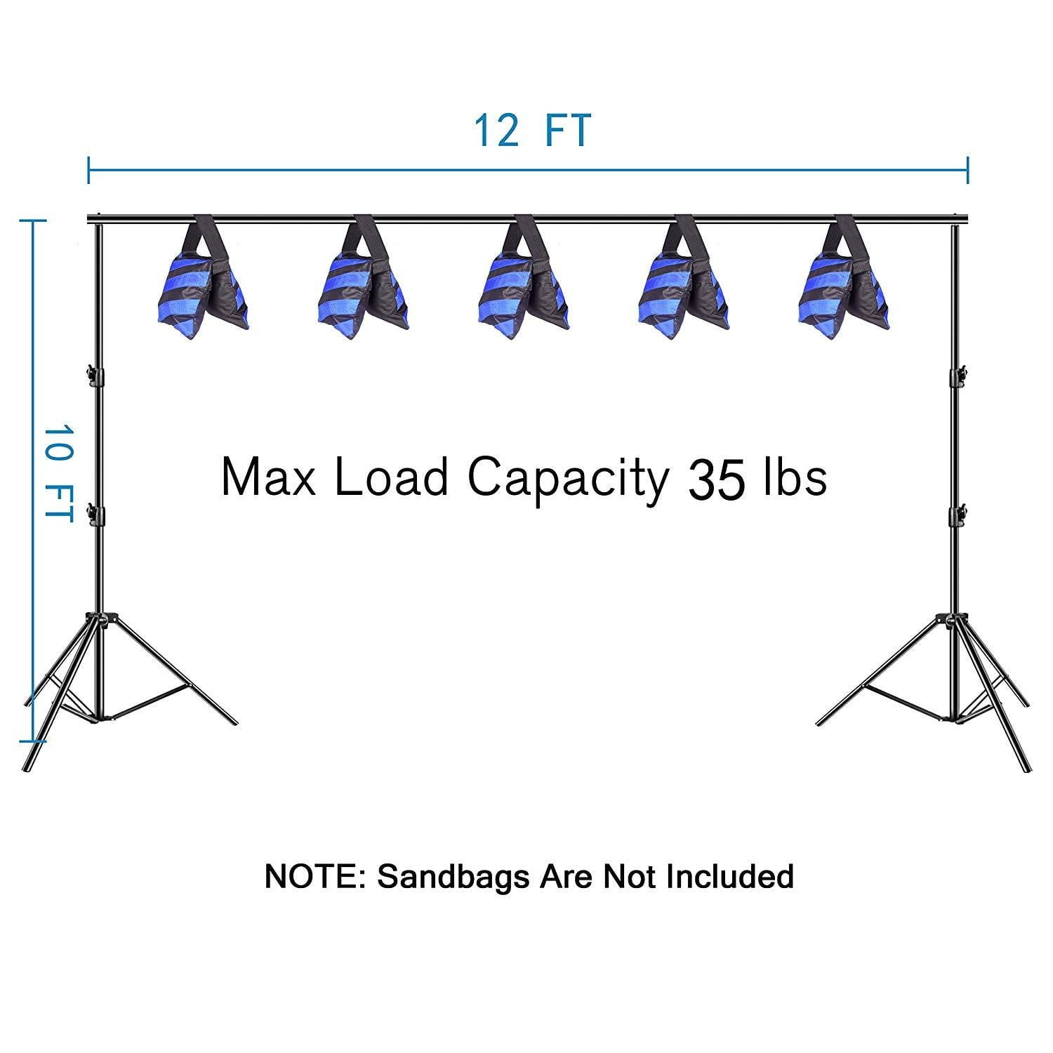 Emart Heavy Duty Photo Video Studio Backdrop Stand - EMART8