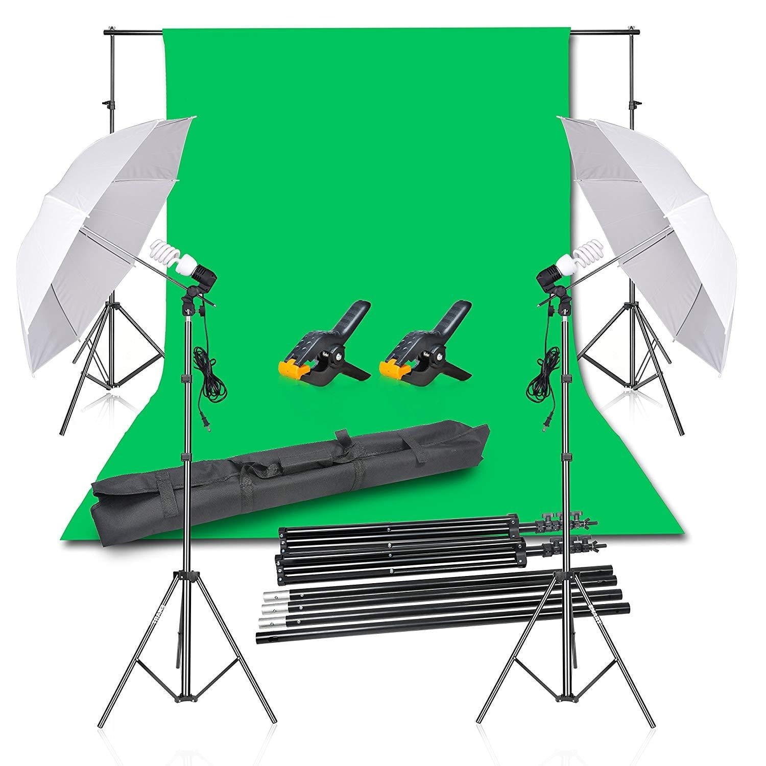 Emart Photography Backdrop Continuous Umbrella Studio Lighting Kit - EMART8