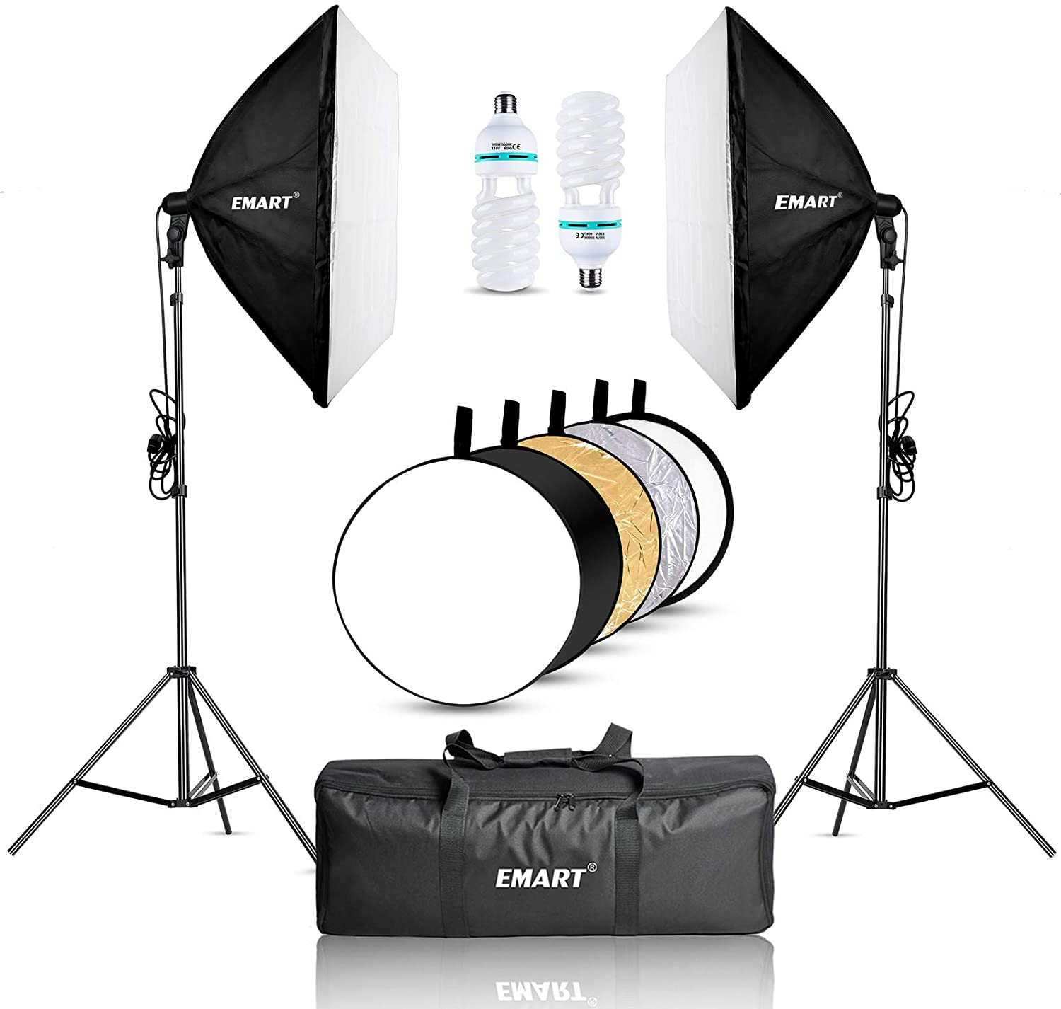 Emart 900W Softbox Lighting Kit Photography - EMART8