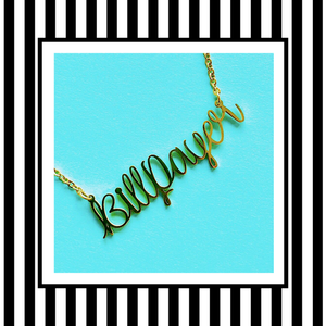 Billpayer Cardi B Script Necklace Gold