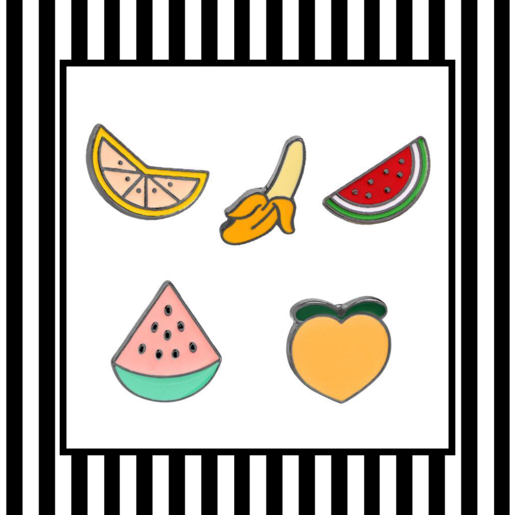 Fruit Bowl Enamel Pin Set