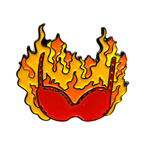 Burn Your Bra Feminist Enamel Pin Badge
