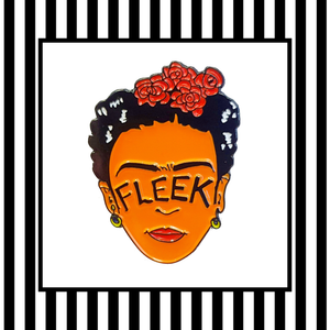 Frida Kahlo Brows on Fleek Enamel Pin Badge