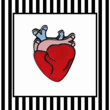 anotomical heart enamel pin badge framed
