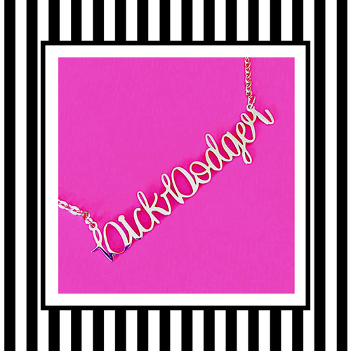 Dick Dodger Silver Script Necklace