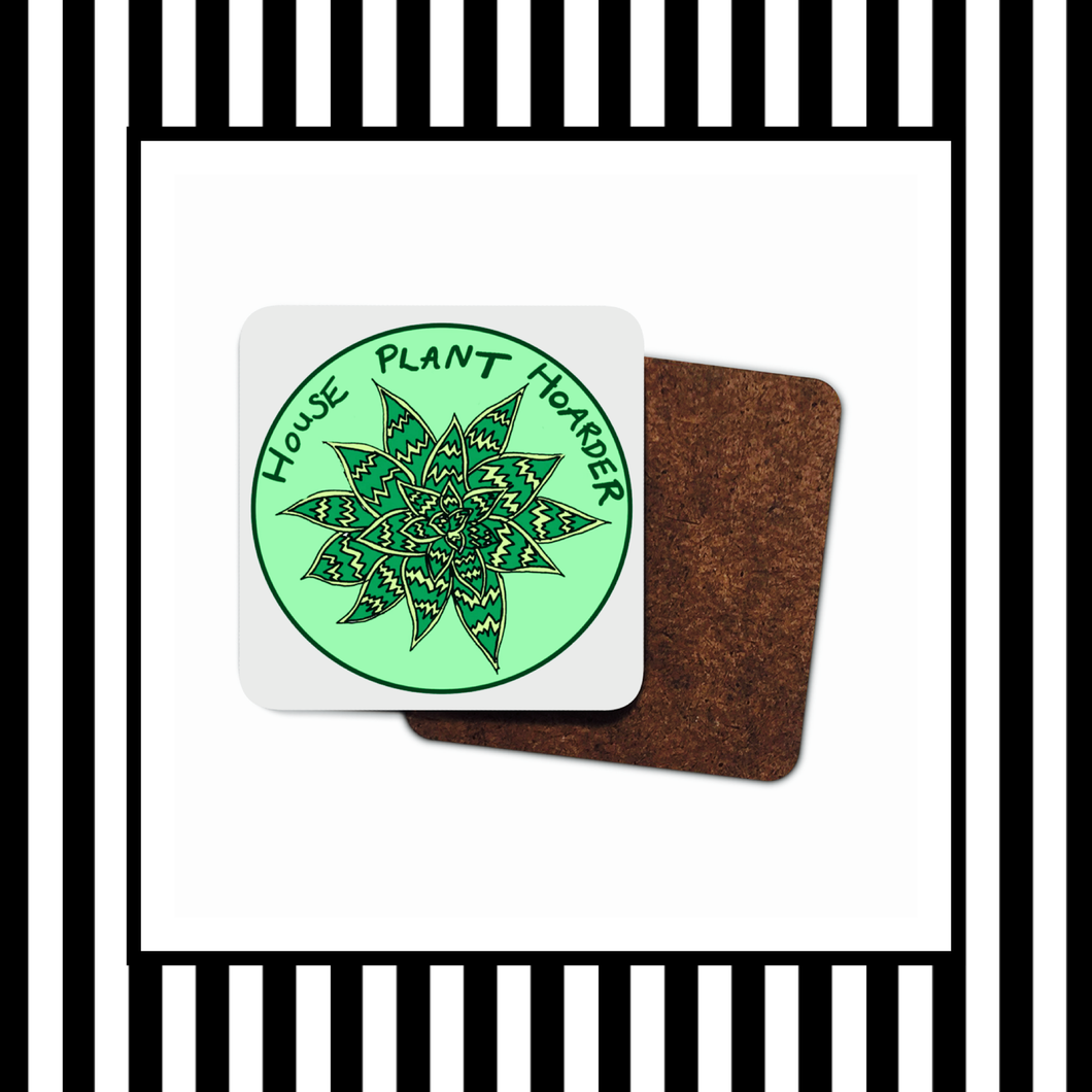 House Plant Hoarder Wooden Coasters