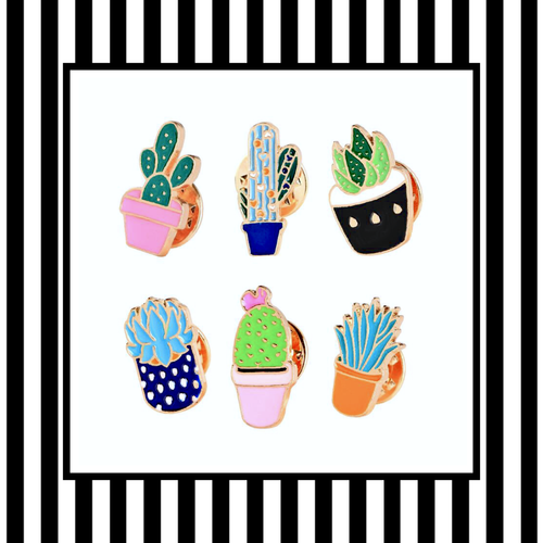 Succulent Mini Pin Set
