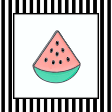 Pastel Watermelon Slice Pin Framed