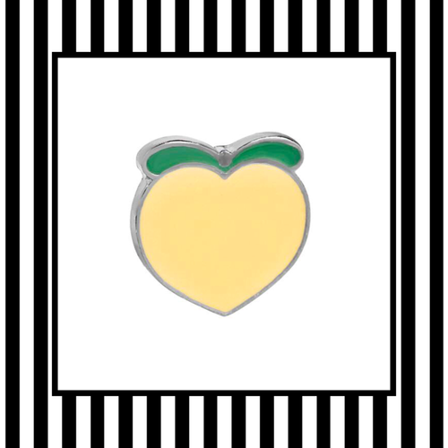 Peach Enamel Pin Badge Framed