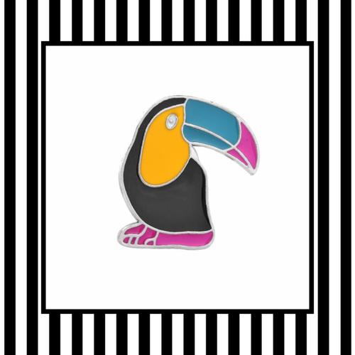 Toucan Enamel Pin Framed
