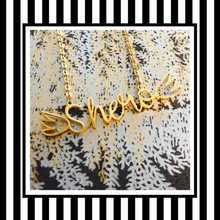 Shero Gold or Silver Script Necklace