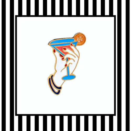 Happy Hour Cocktail Martini Enamel Pin Badge
