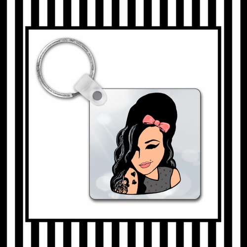 Amy Winehouse Keyring