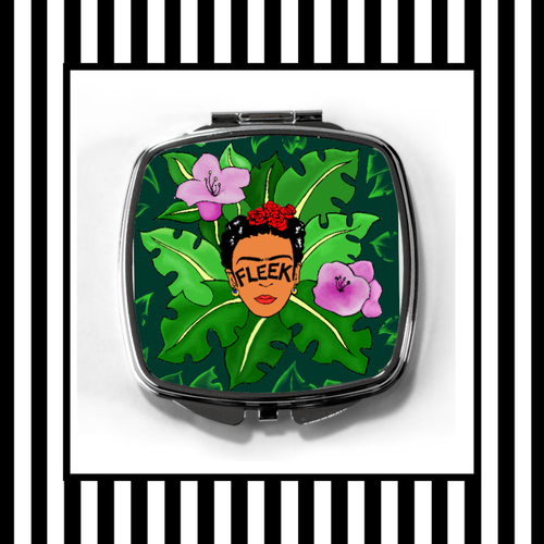 Frida Kahlo Jungle Fleek Compact Mirror