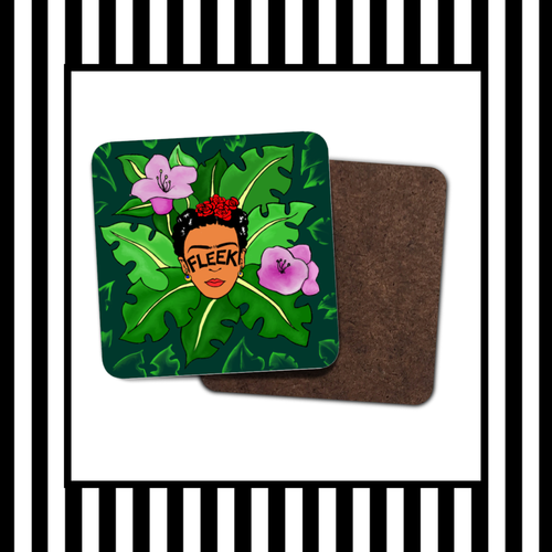 Frida Kahlo Brows on Fleek Jungle Coaster Set
