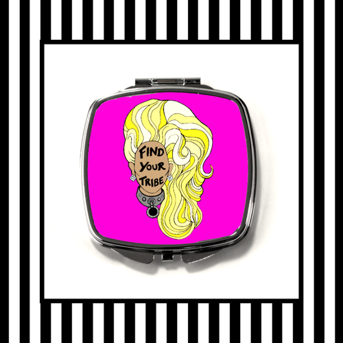 Ru Paul Find Your Tribe Compact Mirror framed