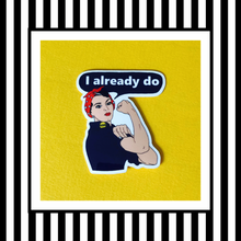 Rosie The Riveter Vinyl Sticker