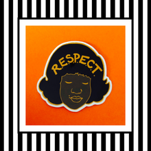 Aretha Franklin Vinyl Sticker Orange