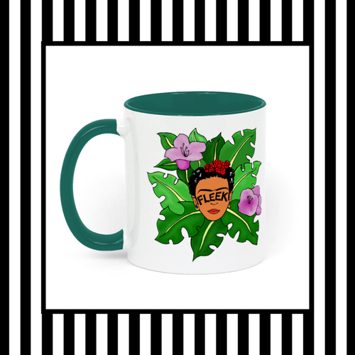 Frida Kahlo Brows On Fleek Jungle Mug