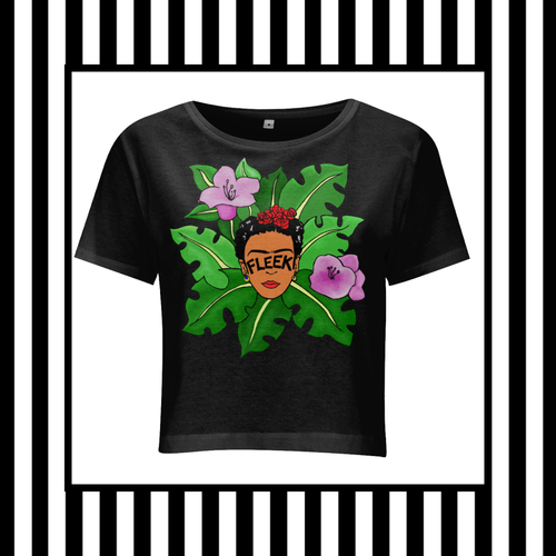 Frida Kahlo Brows on Fleek Jungle Fleek Crop Tee