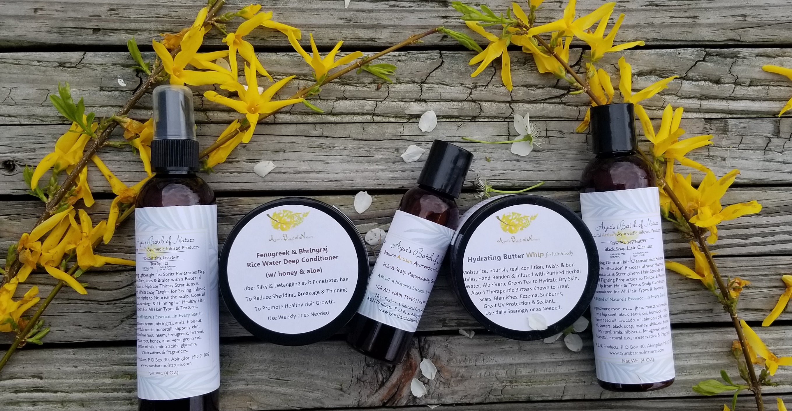 Small Bundle Set (5 Products) - Ayur's Batch of Nature, LLC