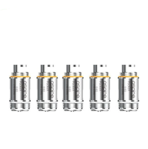 Aspire PockeX Atomizer Head 5pcs (0.6ohm, Standard Version)
