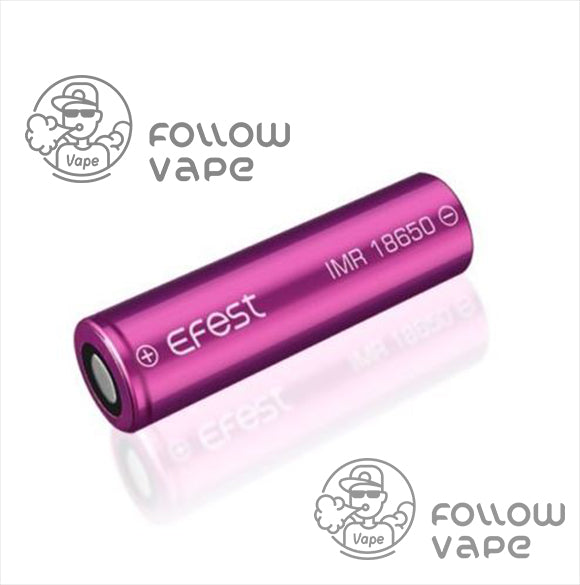 EFEST IMR 18650 3500MAH 20A  RECHARGEABLE BATTERY FLAT TOP - Follow Vape