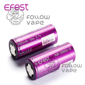 EFEST IMR26650 3500MAH 64A RECHARGEABLE BATTERY FLAT TOP - Follow Vape