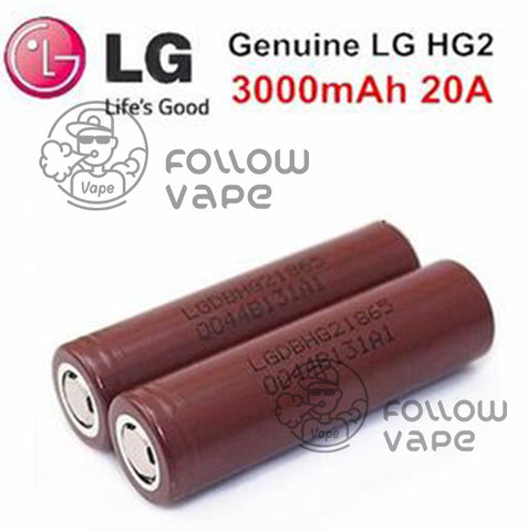 LG 18650 Rechargeable Battery HG2 3000mAh  20A