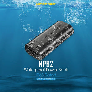 Nitecore NPB2 10000mAh QC3.0 Output IP68 Rated Waterproof Power Bank Authentic