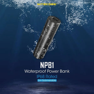 Nitecore NPB1 5000mAh QC3.0 Output IP68 Rated Waterproof Power Bank Authentic