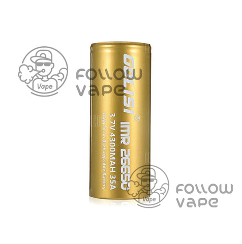GOLISI  IMR 26650 4300MAH 35A RECHARGEABLE BATTERY FLAT TOP
