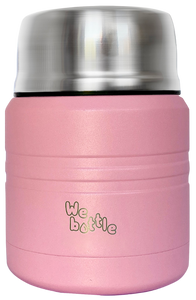 Food Jar 350ml Light Pink