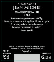 Load image into Gallery viewer, 1962年 シャンパーニュ  ジャン・ミッシェル Champagne Jean Michel Millesime