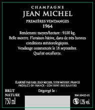 Load image into Gallery viewer, 1964年 シャンパーニュ  ジャン・ミッシェル Champagne Jean Michel Millesime