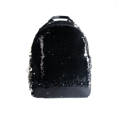 Bling Sequin Backpack in Black - Vegan Leather