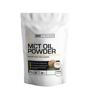 Load image into Gallery viewer, Super MCT Oil Powder - medium chain triglycerides naturally found in coconut oils. Use in smoothies to provide creaminess and add to coffee or tea as a creamer to achieve ketosis. My Wellness SA Keto Health Products.