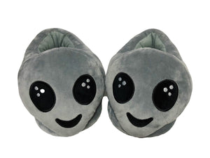 PLUSHERS Original Premium Quality Alien Emoji Slippers | 2 Sizes Available