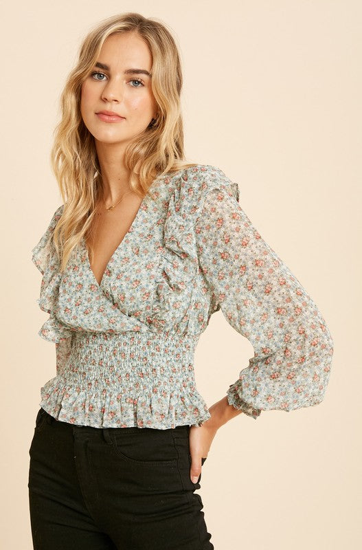 Jaclyn Floral Top - Rose Lovely