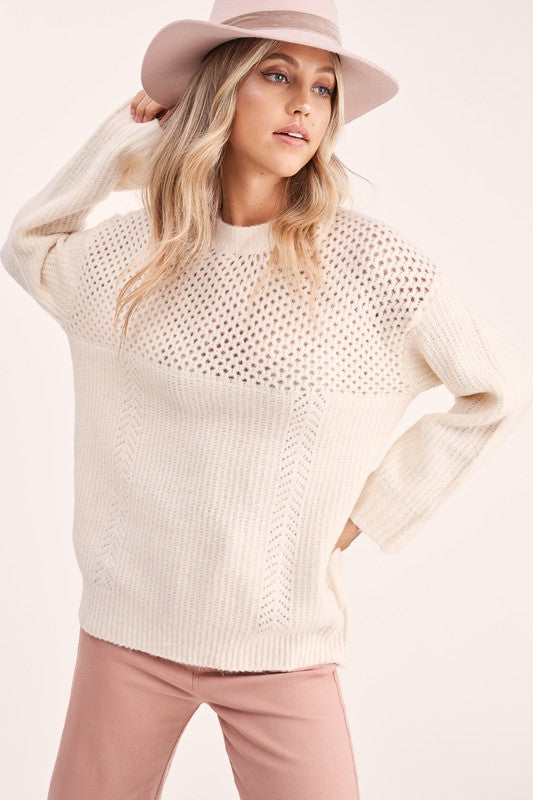 Marshmallow Heaven Sweater - Rose Lovely