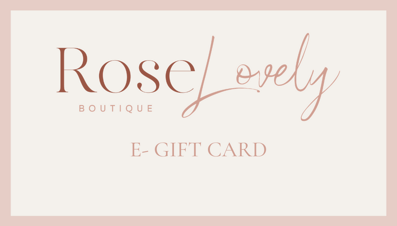Rose Lovely Gift Card - Rose Lovely