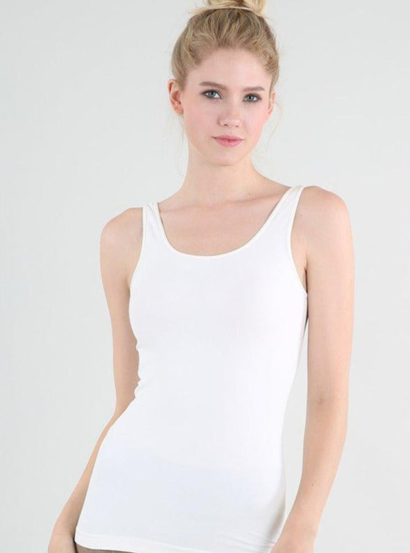 Signature Tank Top - White - Rose Lovely