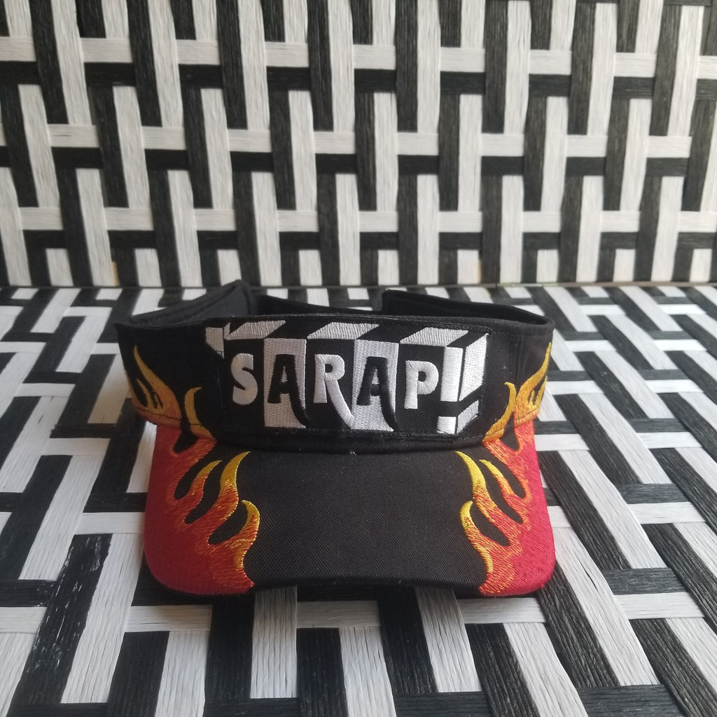 Flame Embroidered Visor