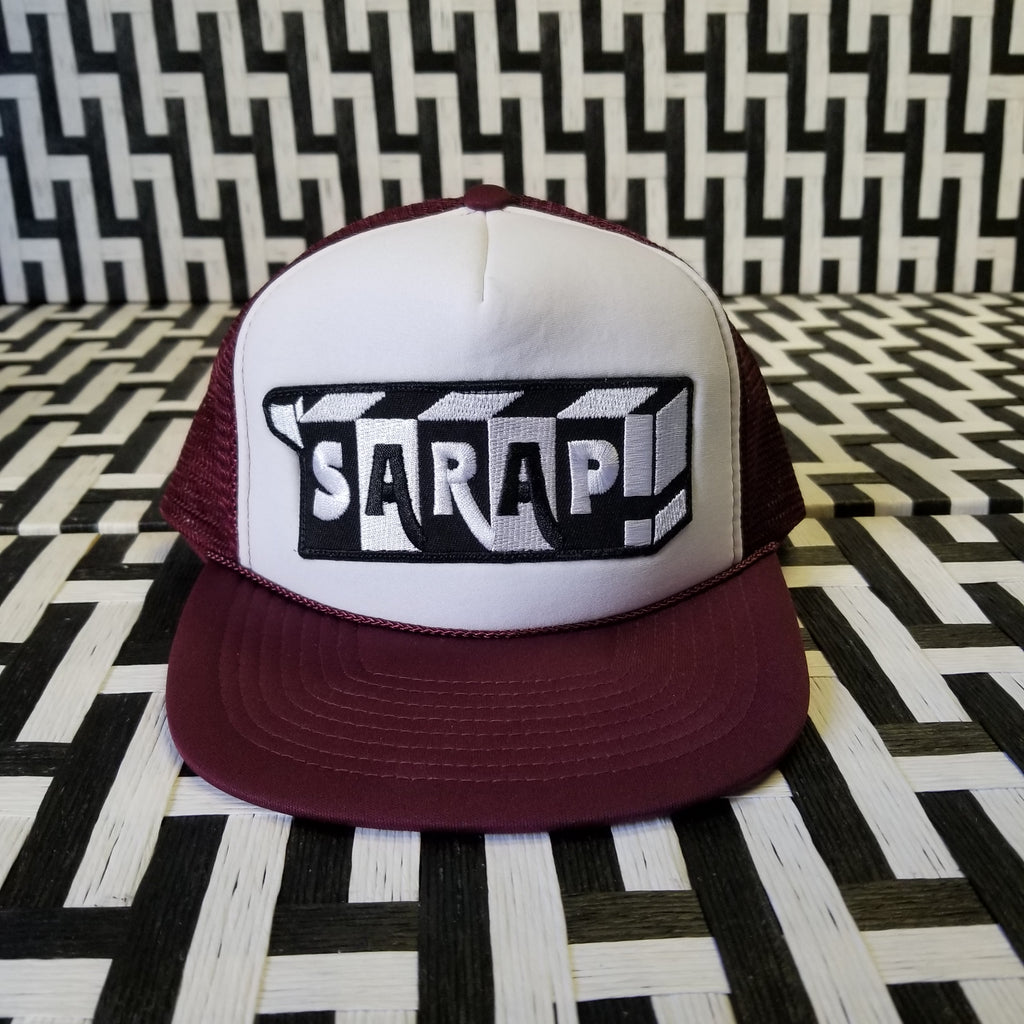 Burgundy Trucker Rope Cap